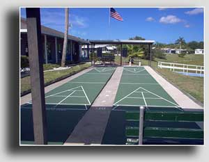 Stay active and enjoy a game of shuffleboard