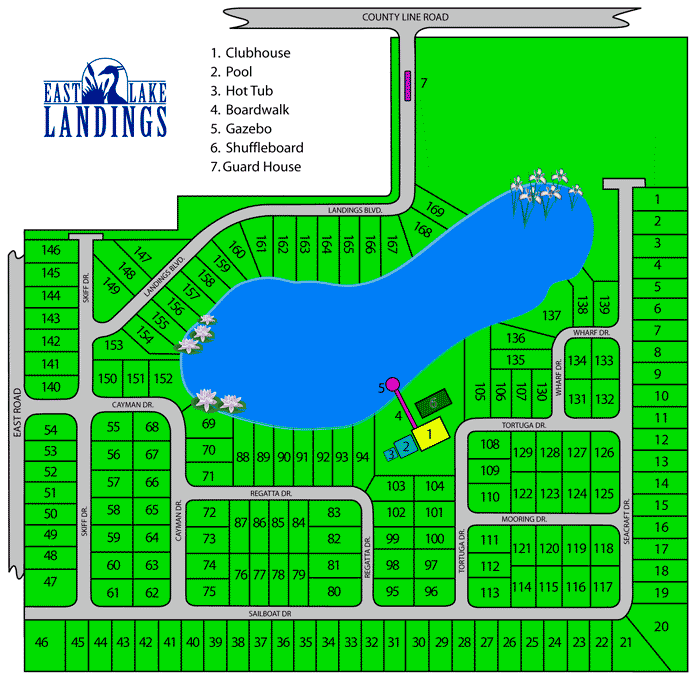 East Lake Landings Site Map